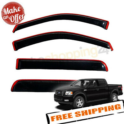 Auto Ventshade 194443 In-Channel VentVisor Rain Guards for Ford F-150 SuperCrew