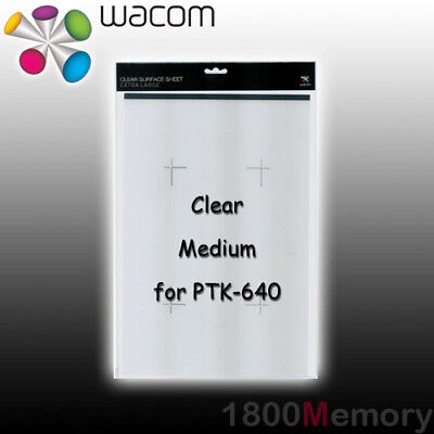 Wacom Intuos4 Medium Clear Surface Sheet 6x9 ACK-100-22 for PTK-640 Tablet for sale  Shipping to United States