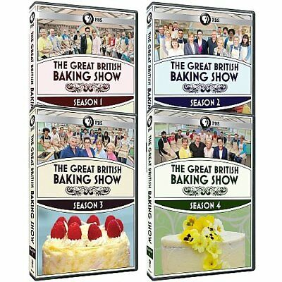 The Great British Baking Show TV Series Complete Seasons 1-4 1 2 3 4 NEW DVD