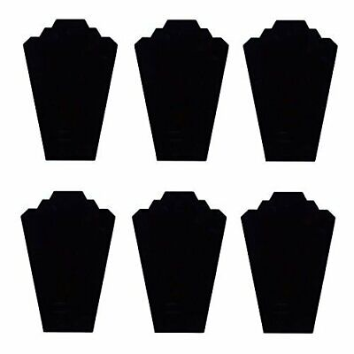 Black Velvet Necklace Jewelry Display Organizer Stand 6pcspack 12.5inches