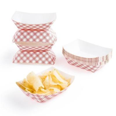 50pc Disposable Cardboard Paper Food Tray  Boat Baskets Fast Food Tray 1lb  (Disposable Cardboard)