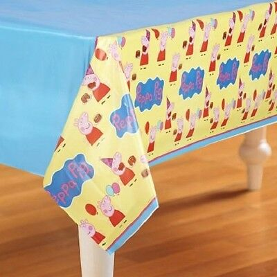 PEPPA PIG PLASTIC TABLE COVER PARTY FAVOR SUPPLIES 54