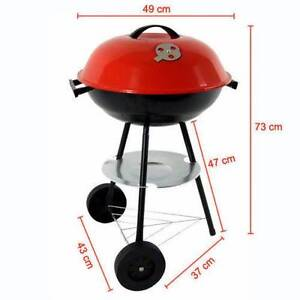 Portable Picnic Charcoal Barbecue Red Lid/Kettle Mobile BBQ Grill Clayton South Kingston Area Preview
