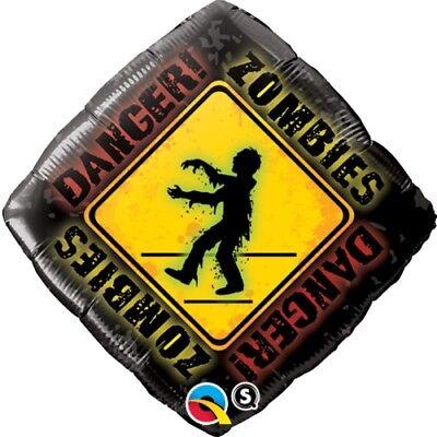DANGER! ZOMBIE CROSSING Zombies Halloween Fun Living Dead Birthday - Halloween Birthdays