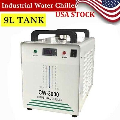 Industrial Water Chiller For 60w 80w Co2 Glass Laser Tube Cooling Cw-3000 Usa