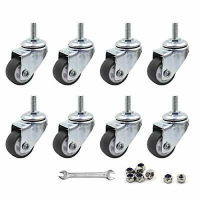 Luomorgo 8 Pcs 1 Caster Wheels Swivel Stem Casters For Small Tiny Shopping C...