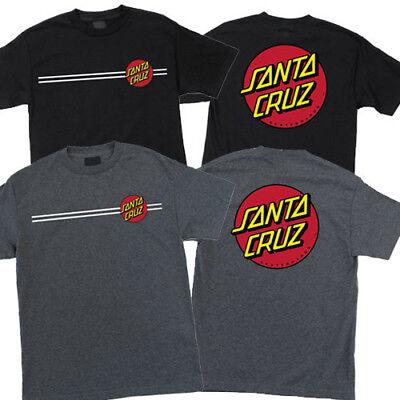Santa Cruz Dot (Santa Cruz Classic Dot T Shirt Tee Skateboard Black or Charcoal New Many Sizes )