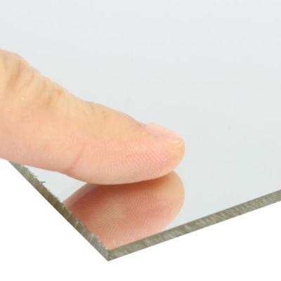 2mm Clear Mirror Acrylic Plexiglass Perspex Plastic Sheet Plate Multi Size Us
