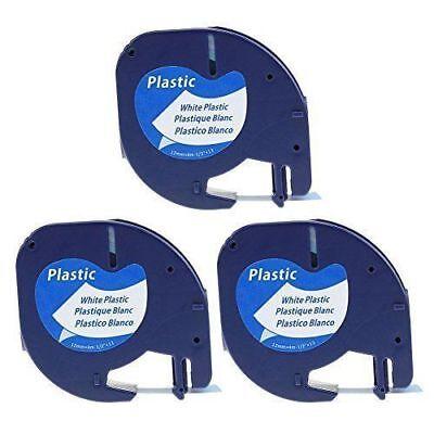 3 Pk Compatible Dymo Letratag Refill 59422 Lt-100 Lt-100t Lt-110t Label Tape