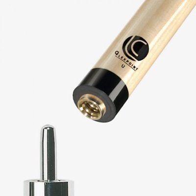 Lucasi Custom Zero Flexpoint Uniloc 12.75mm Pool Cue Shaft - Black Collar