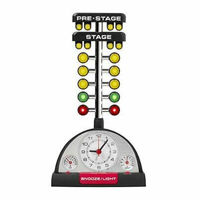 Drag Racing Christmas Tree Lighted Thermometer Sound Tabletop Alarm Clock
