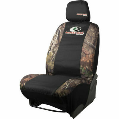 - MOSSY OAK Break-Up Country Camo/Black Low-Back Fit Car Seat Cover Set of 2; NWT