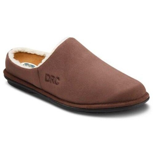 DR. COMFORT MENS SLIPPERS 5120-W-09.0 CHOCOLATE BROWN SIZES 7 9 NEW