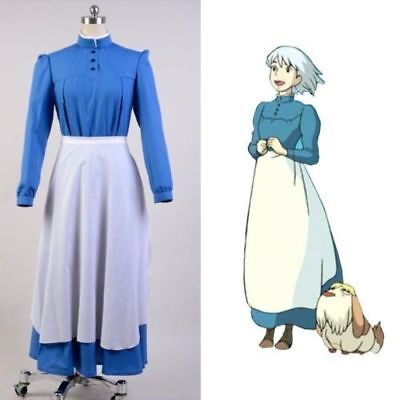 Howls Moving Castle Sophie Hatter Cosplay Costume Maid Dress@12