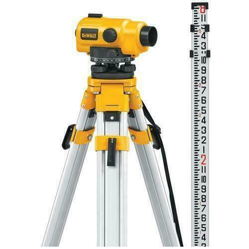 DEWALT DW096PK 26X Automatic Optical Level Tripod Rod Kit W/ Carry Case FREESHIP