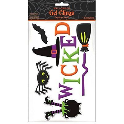 Small Family Friendly Witch Gel Clings Halloween Trick or Treat - Sm Family Halloween Party