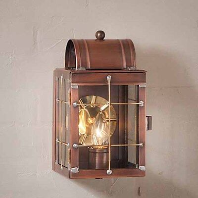 Small Outdoor Copper Wall Lantern Fixture in Solid Antique Copper Copper Small Outdoor Wall