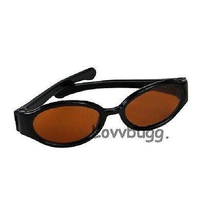 """Lovvbugg Black Sun Glasses for 18"""" American Girl Doll Accessory"""