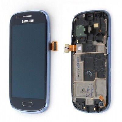 SAMSUNG GALAXY S3 MINI i8190 BLEU : ECRAN LCD + TACTILE+ CHÂSSIS COMPLET