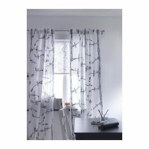 Ikea Eivor Curtains-- Birds and Trees/Black and White