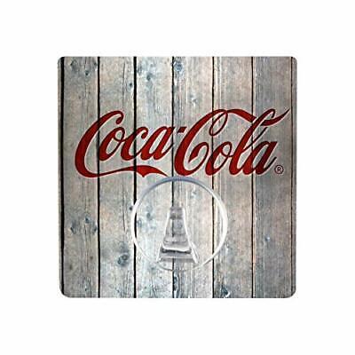 WENKO Static-Loc® Wandhaken UNO Coca-Cola Wood - Handtuch-Haken, Befestigen o...