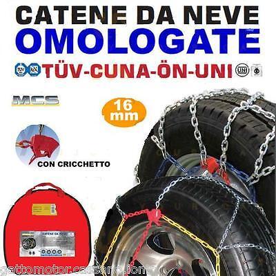 CATENE NEVE 195/80/14 MELCHIONI 16MM FURGONI COMMERCIALI CAMPER SUV CF1637