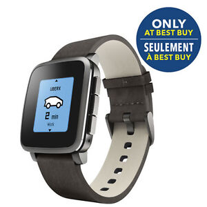 Pebble Time Steel Smartwatch -brand new never used