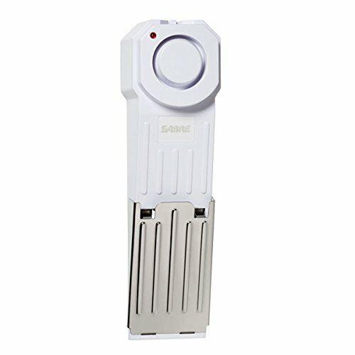 SABRE Wedge Door Stop Security Alarm with 120 dB Siren