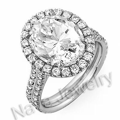 3.26 Ct. Oval Cut Diamond Engagement Bridal Ring GIA