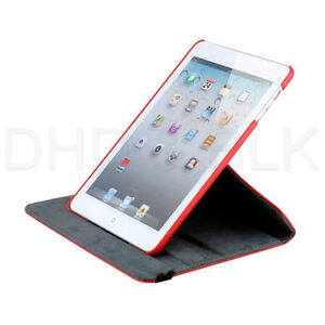RED 360 ROTATING PU LEATHER CASE COVER WITH STAND FOR IPAD MINI Regina Regina Area image 8