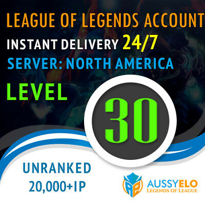 League of Legends NA Unranked Account LoL 20k+ BE / 26 Capsules | Smurf Account