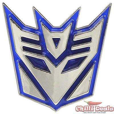 3D The Transformers Decepticon Chrome Logo diecast Metal Belt Buckle