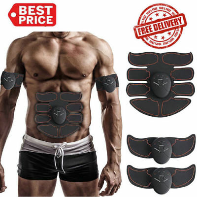 Electric Muscle Toner EMS Machine Wireless Toning Belt Simulation Abs Fat JOINT#, used for sale  USA