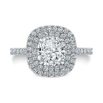 1.92 Ct Halo Round Cut Diamond Engagement Ring H,VVS1 GIA 14k 1