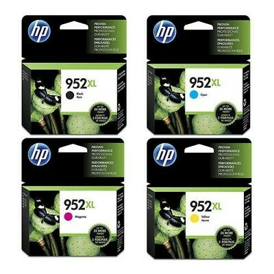 New Genuine HP 952XL Black XL,Yellow XL,Cyan XL,Magenta XLEXP/2021 NO RETAIL BOX Hewlett Packard Box