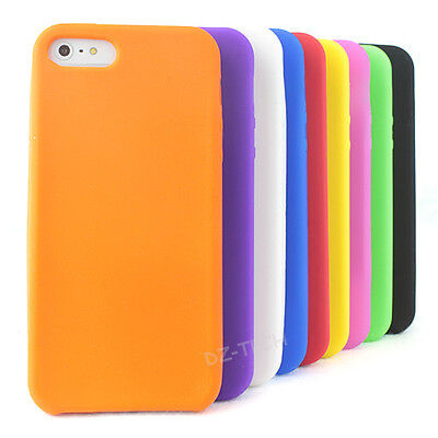 For Apple iPhone 5S 5 Rubber Silicone Soft Jelly Gel Skin Phone Case (Apple Iphone Silicone Skin Case)