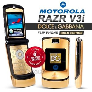 Unlocked MOTOROLA RAZR V3i D&G Dolce & Gabbana GSM Bluetooth Camera Flip Phone