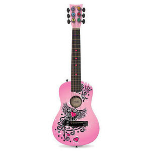 First Act Discovery Designer Acoustic Guitar - Pink Winged Heart