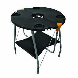 Portable folding table used for BBQ with RV