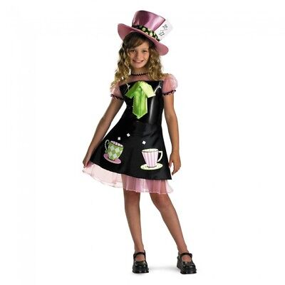 GIRLY TEA CUP MAD HATTER CHILD HALLOWEEN COSTUME GIRLS SIZE MEDIUM 7-8](Girly Halloween Costume)