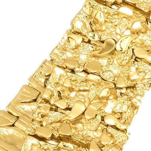 mens 14k gold nugget bracelet ebay