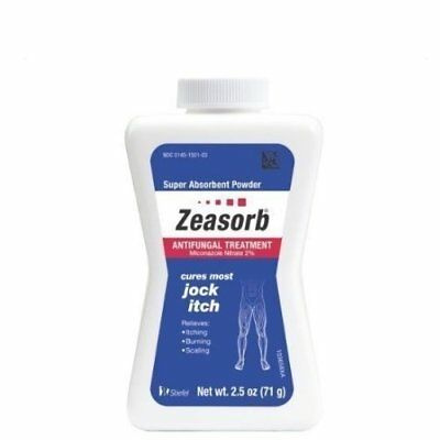 Zeasorb AF Antifungal Treatment Super Absorbent Powder Cures Jock Itch 2.5 oz