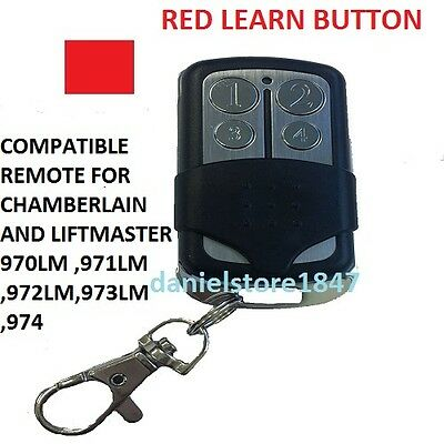 Chamberlain Garage Door Opener Remote Control Part Mini Red Learn