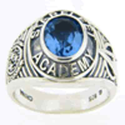 Star Trek Academy Ring (blue cubic zirconia)