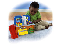 Fisher price little people stow 'n tow garage