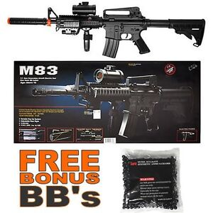 Double Eagle M83A2 BLK M4 M16 M4A1 Airsoft Electric Assault Rifle AEG Semi/Full