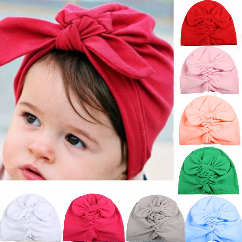 Details about Baby Boy Girl Infant Newborn Winter Warm Beanie Cotton  Wrapped Cap Turban Hat 11f7b4d77087