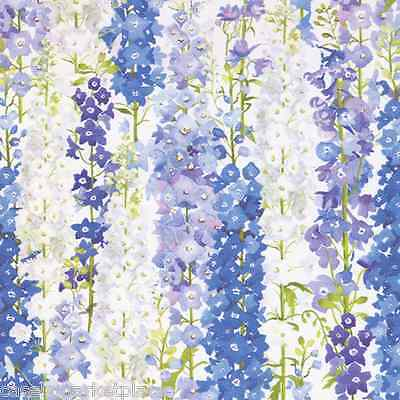 CASPARI 2 / 5 ft Continuous Rolls Delphiniums Gift Wrap / Wrapping Paper