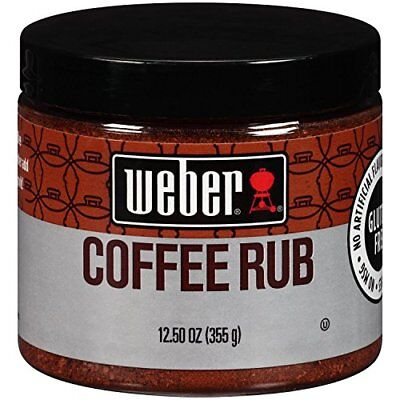 - WEBER COFFEE RUB no MSG Seasoning 12.50 oz