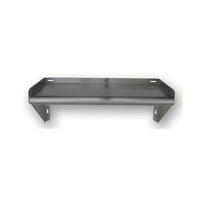New Commercial Stainless Steel Tab Lock Wall Mount Shelf - 30 X 18 Nsf 18 Ga